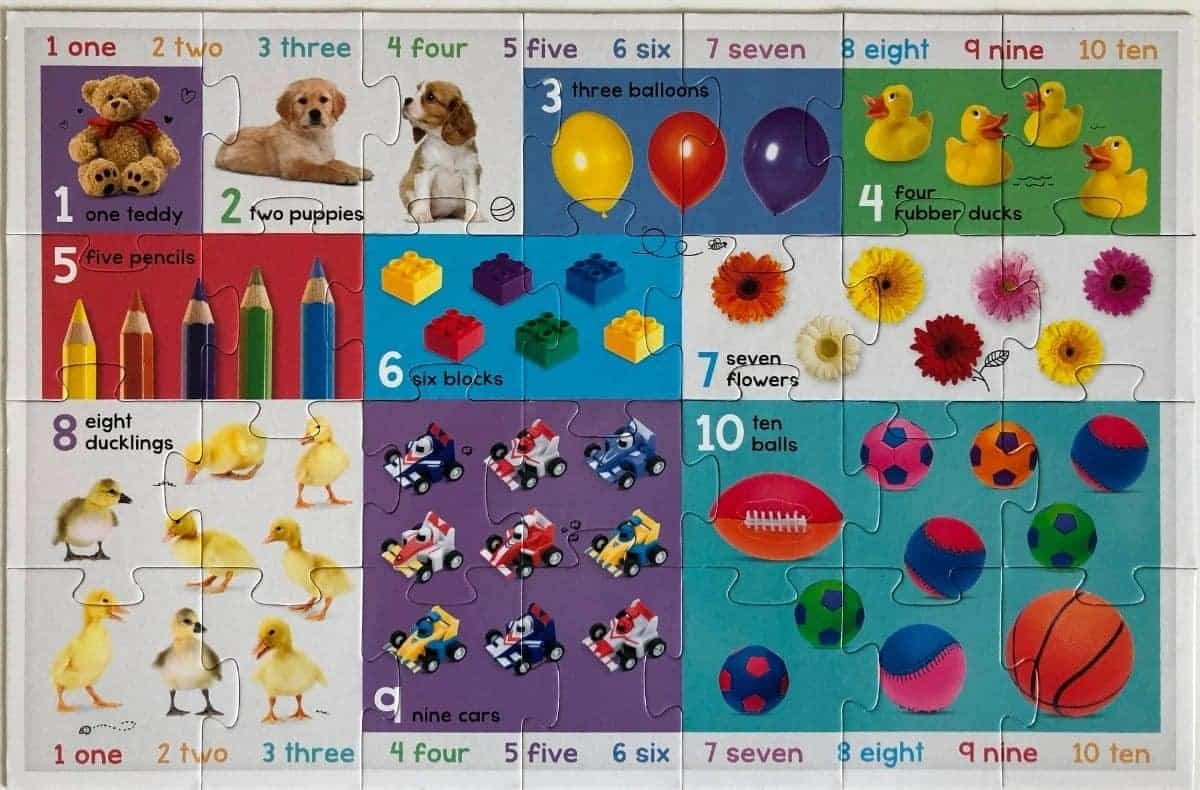 Let`s Count Numbers Floor Puzzle
