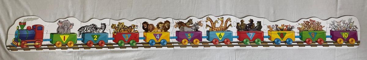 Circus Number Train Puzzle