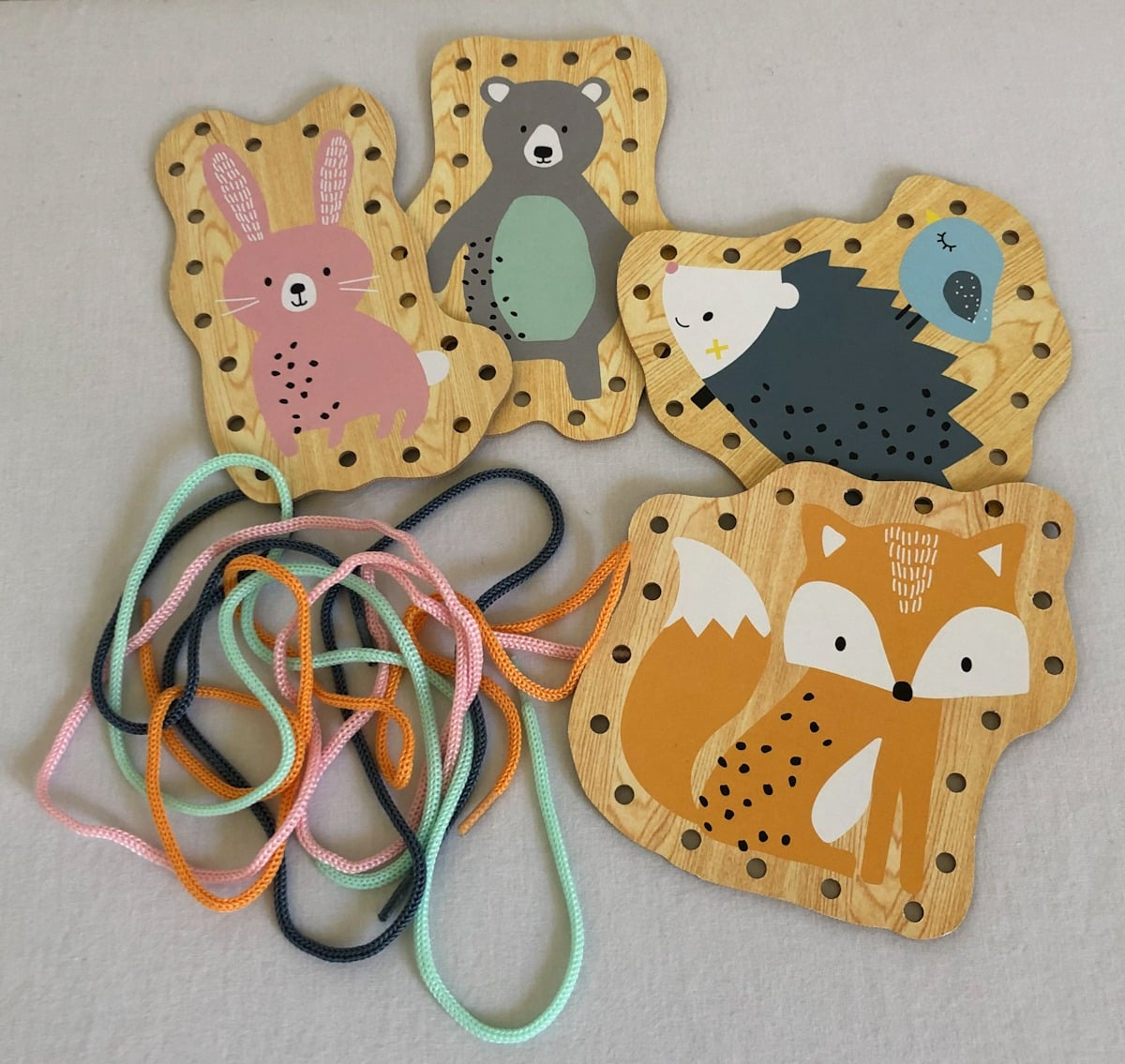 Lacing & Threading Animal Boards